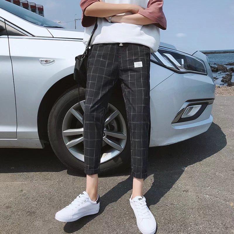 wholesale 2020 summer Casual Plaid pants men