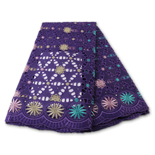 Lace-Fabrics Switzerland Swiss Voile Nigerian African High-Quality Cotton PGC with Stones