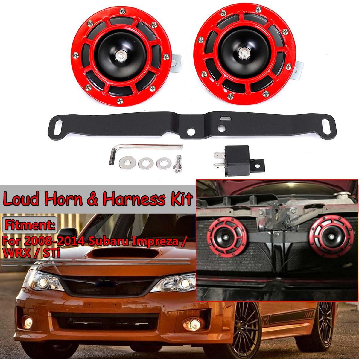 Автомобильный Электрический громкий сигнал 12 В, крепление на гриль, супер громкий гудок и комплект жгута для SUBARU Impreza WRX STi BRZ 2008-2014, монтажный ...