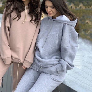 Two Piece Set Sport Suit Female Sweatshirt Oversized Hoodie Outfits Pullover Casual Women's Tracksuit Winter Clothes Moda 2020