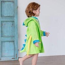 0-2Y Baby Bathrobe Cartoon Animal Hoodies Girl Boys Sleepwear Bath Towel Pajamas Fashion Winter Long Sleeve Pyjamas