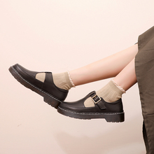 Oxford-Shoes Spring Vintage Autumn Women PU Round T-Straps Euro British-Style