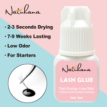 NATUHAHA 5ml 2-3 Seconds Fast Drying lashes Glue low smell Long Lasting Time Eyelash Extension Adhesive Retention 7-9 weeks