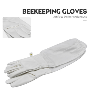 Image 1 - Brand Artificial Leather Protective Beekeeping Glove Bee Keeping Vented Long Sleeves Beekeeping Suitable for Equipment And Tools