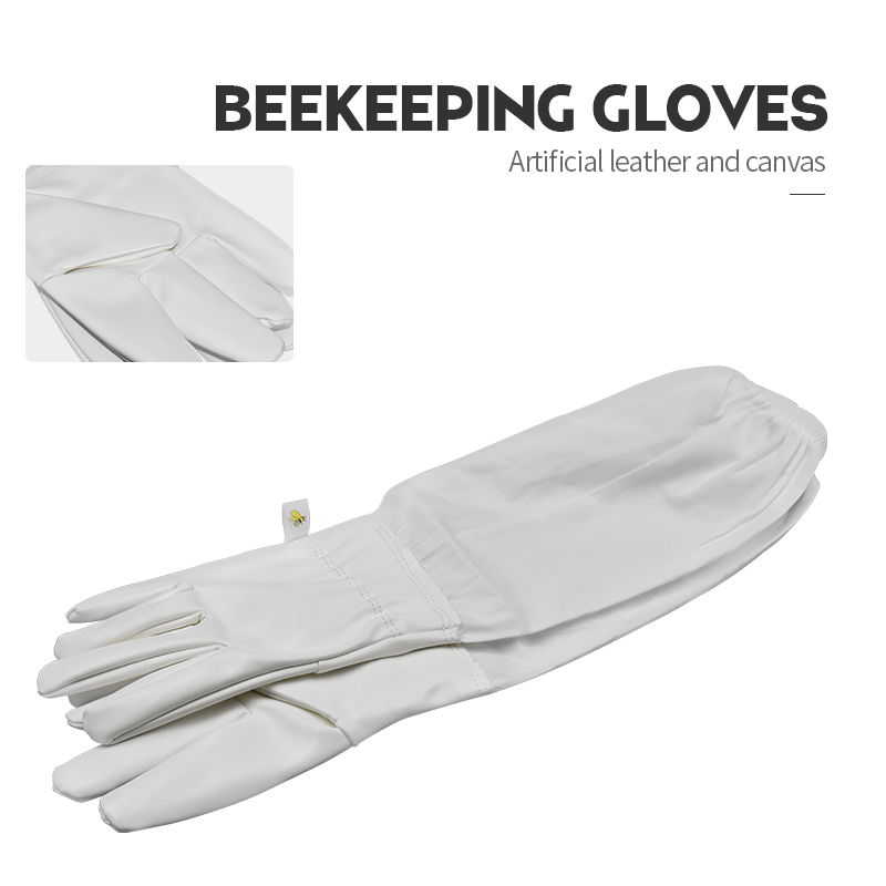 Brand Artificial Leather Protective Beekeeping Glove Bee Keeping Vented Long Sleeves Beekeeping Suitable for Equipment And Tools