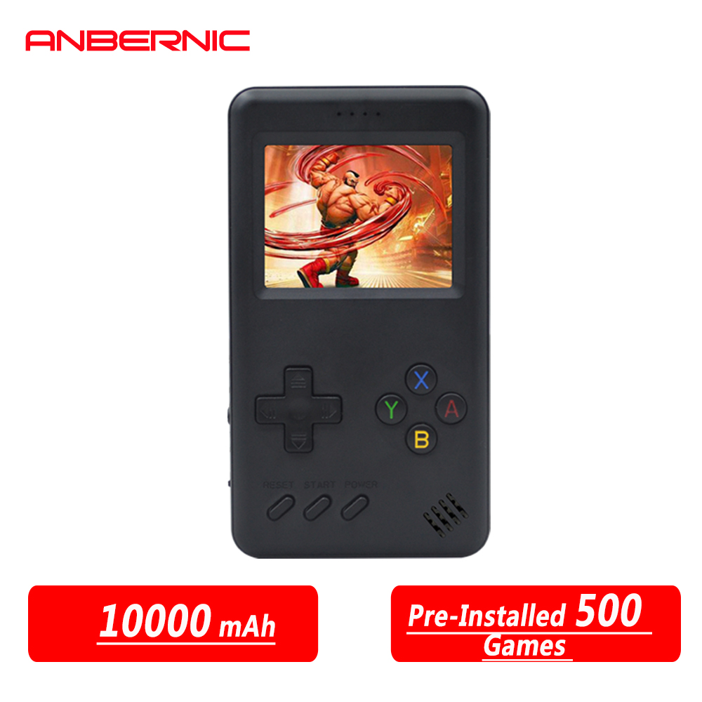 RG Handheld Game Console Retro Gaming Machine with 10000mAh Game Power Bank Built-in 500 Classic Games Game Battery power bank