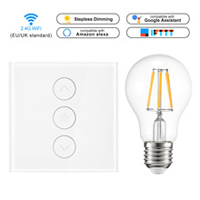 Led dimmer 220v Smart Light Dimmer switch WiFi Touch Switch Work Control with Alexa Google Assistant IFTTT+Dimmer Bulb