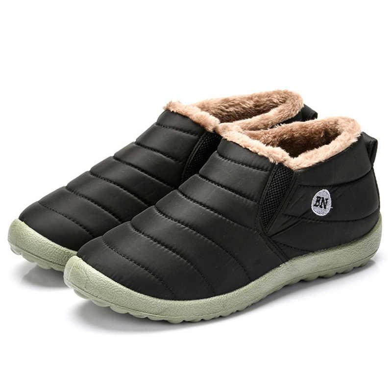 ผู้ชายฤดูหนาวรองเท้าสำหรับชายรองเท้าผ้าใบฤดูหนาวรองเท้าบู๊ตหิมะกันน้ำ WARM FUR Zapatillas Hombre Casual รองเท้าผู้ชาย