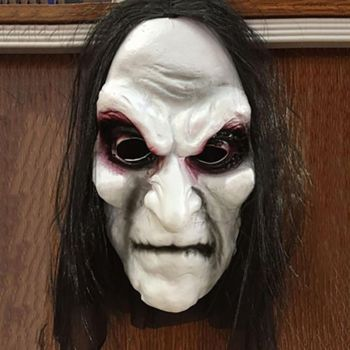 Halloween Zombie Mask Props Grudge Ghost Hedging Horror Zombie Mask Realistic Masquerade Long Hair Ghost Scary Mask image