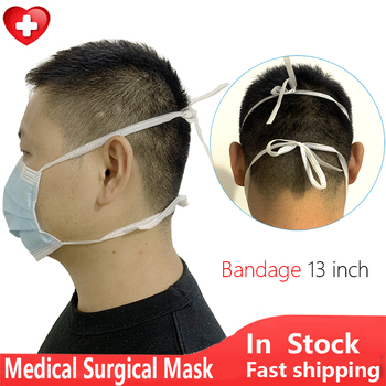 Bandage Rope Medical Surgical Mask disposable Protective Mouth Face Mask Anti Virus Dust Mask Filter flu Surgical Medical Masks