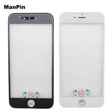 3in1 original vidro com quadro oca filme para iphone 8 plus 7 7 mais 6s 6splus 6 plus 6g lcd tela de toque substituir peças reposição 5pcs