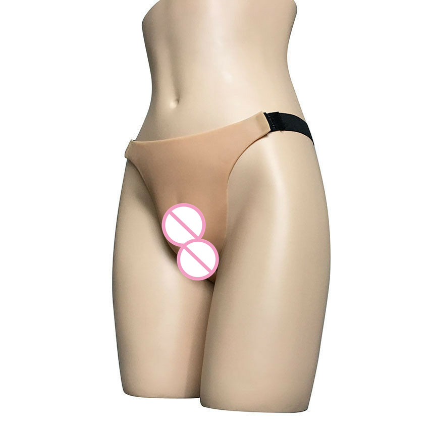NEW Silicone Fake Vagina CAMELTOE Gaff Panties Underwear Ladies Knicker G-string