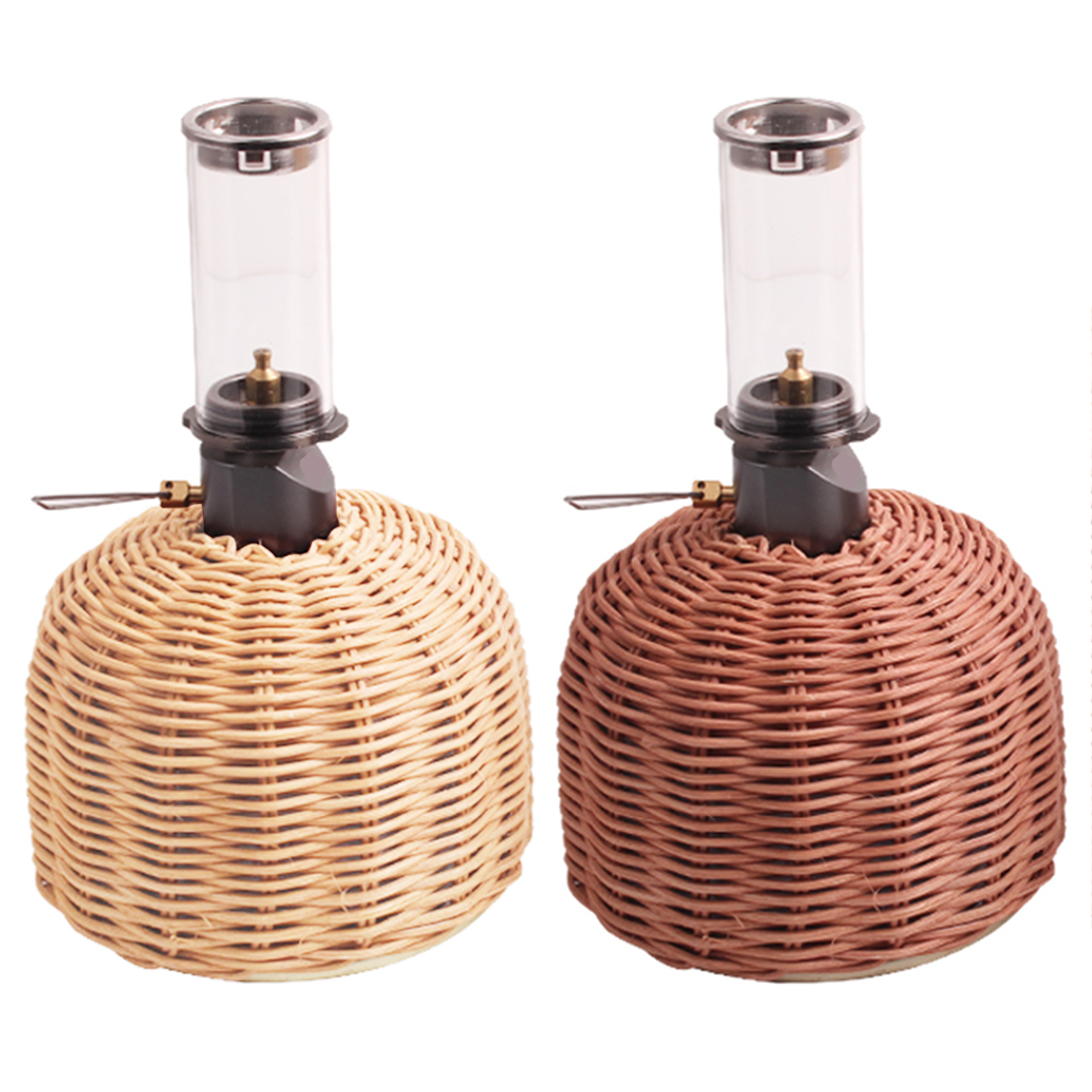 230g / 450g Cooking Gas Cylinder Cover Rattan Outdoor Gas Cylinder Cover Camping Cooking Gas Tank Protector Storage Pouch