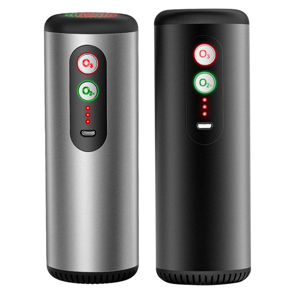 Portable Car Air Purifier Ionizer Ozone Air Cleaner Odor Eliminator Rechargeable USB Auto Air Freshener Cleaner