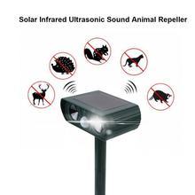 Ultradźwiękowy alarm Solar podczerwieni Burst ultradźwiękowy odstraszacz zwierząt napęd kot pies na zewnątrz do gospodarstwa ogrodowego tanie tanio VBESTLIFE NONE CN (pochodzenie) Anti-theft Alarm