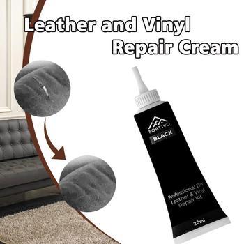 Kit de reparación de cuero de vinilo líquido agente de reparación de muebles sofá asiento Reparación de reparación de un cinturón limpiador de zapatos multiusos Sk Z9T7