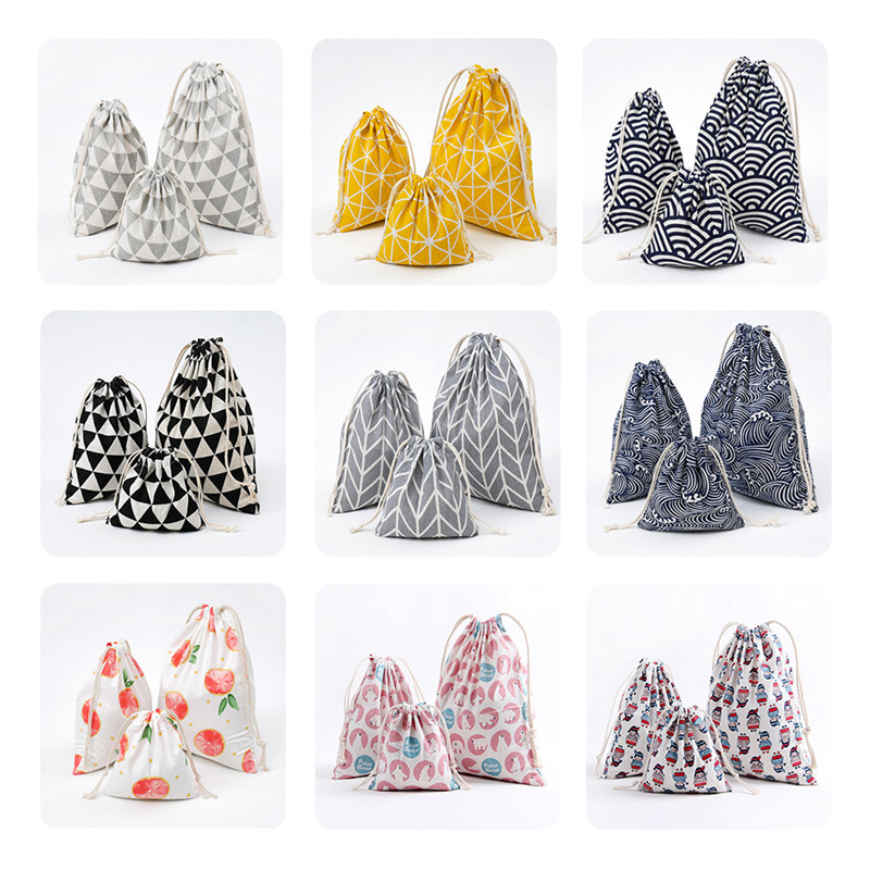 Unisex Drawstring Bag Storage Bag Travel Portable Clothes Packing Organizers Kids Dolls Toys Package Home Storage Pouch Gift Bag