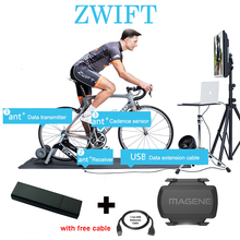 USB ANT+ DONGLE for Zwift Tacx Wahoo Garmin Bkool Indoor Trainer Training One Lap Data ANT USB Sticker Connect with Computer