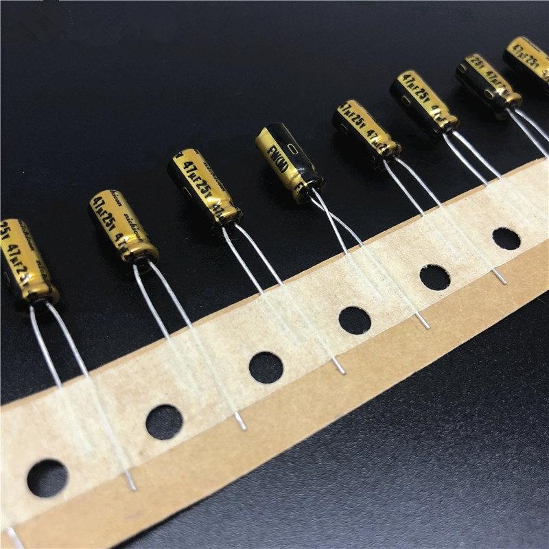 10pcs 47uF 25V NICHICON FW Series 5x11mm 25V47uF Audio Aluminum Electrolytic Capacitor