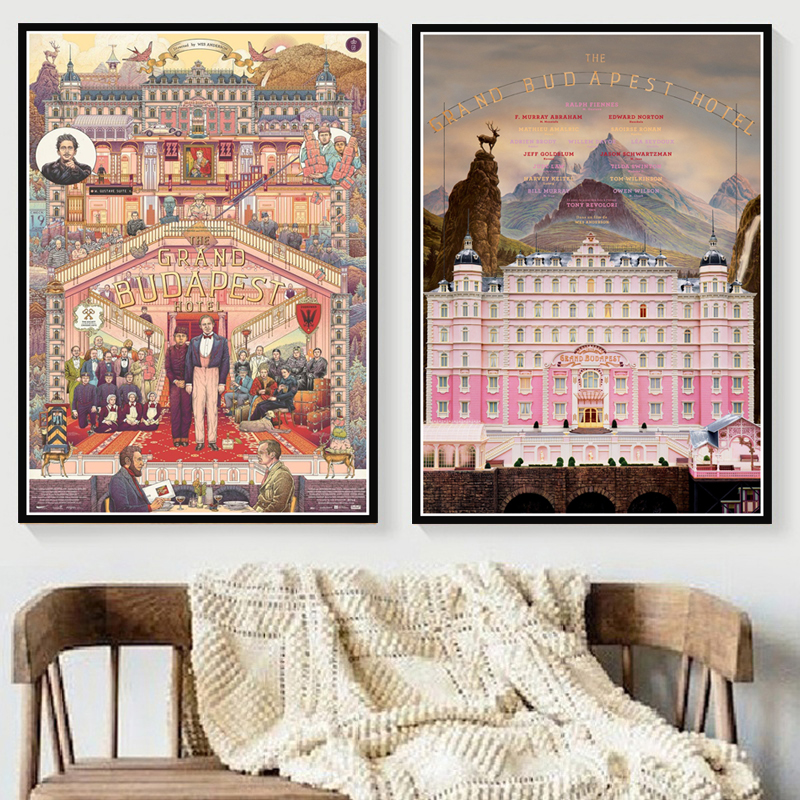 Home Decor Poster Canvas Wall Art Print Hot The Grand Budapest Hotel Movie Classic Comic Gift Painting Bedroom Picture Modular
