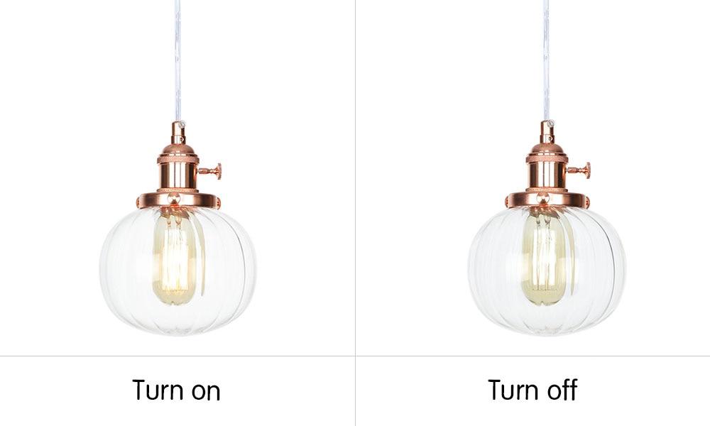 DA124玫瑰金+透明罩 开关灯对比图英文版