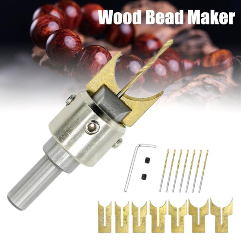 13/16/24pcs Carbide Wood Bead Maker Buddha Beads Drill Bit Milling Cutter Set Woodworking Tools 6/8/10/12/14/15/16/18/20/22/25mm