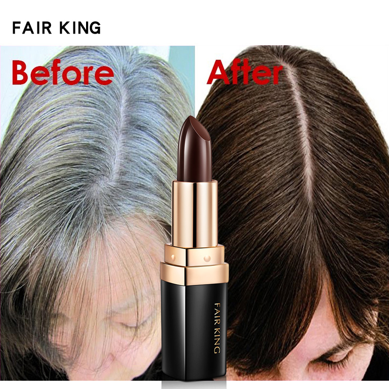 Hair Chalk Lipstick Color Pen Non-toxic Cover Gray Crayon Temporary Hair Dyeing HB88 image
