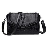 Crocodile Pattern Crossbody Bags for Women 2019 New Shoulder Bag PU Leather Fashion Messenger Bag With Detachable Shoulder Strap
