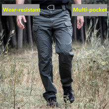 IX7 tactical trousers mens loose IX9 multi-pocket cargo pants cotton stretch Jungle adventure outdoo