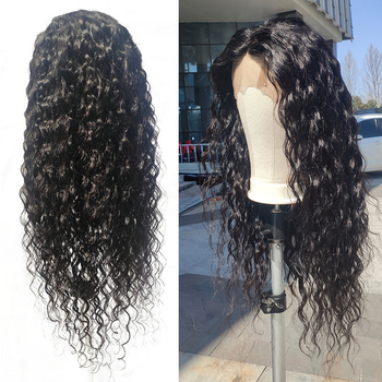 EMOL Brazilian Water Wave Human Hair Wig 13*4 Lace Front Wig Pre Plucked With Baby Hair Natural Hairline 150% Remy Hair Wigs lace frontal human hair wigs brazilian water wave wig pre plucked natural hairline 150