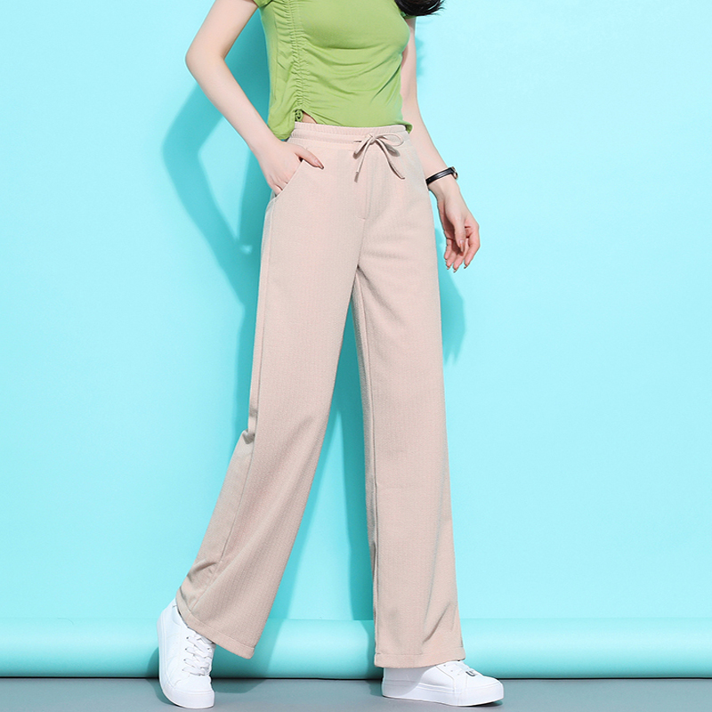 Spring Summer Hot Sale Solid Wide Leg Pants Loose Pants Bow Ankle Length Pants Women's High Waist Stylish Loose Pants S-4XL