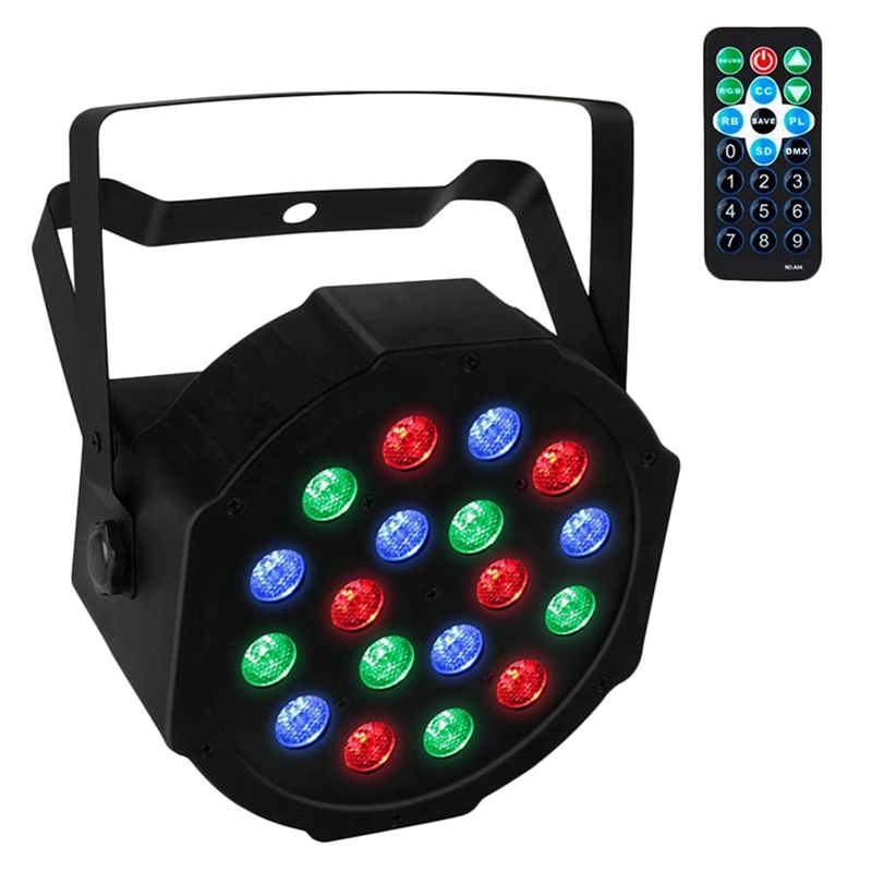Par Lights With Remote 18x1w Led Lighting For Stage KTV Pub Club Dsico Show Party ,US Plug