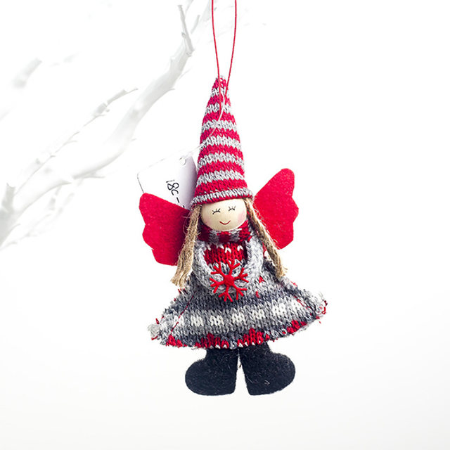 1pcs Angel Doll Pendants Christmas Hanging Ornaments Small Gift for New Year Xmas Party Decoration Baubles SA146 16