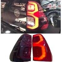 Auto Led Rückleuchten Schwanz lampen Blinker Bremse revser Licht Fit Für Toyota Hilux Revo 2021 2015-2020 pickup Auto Lichter