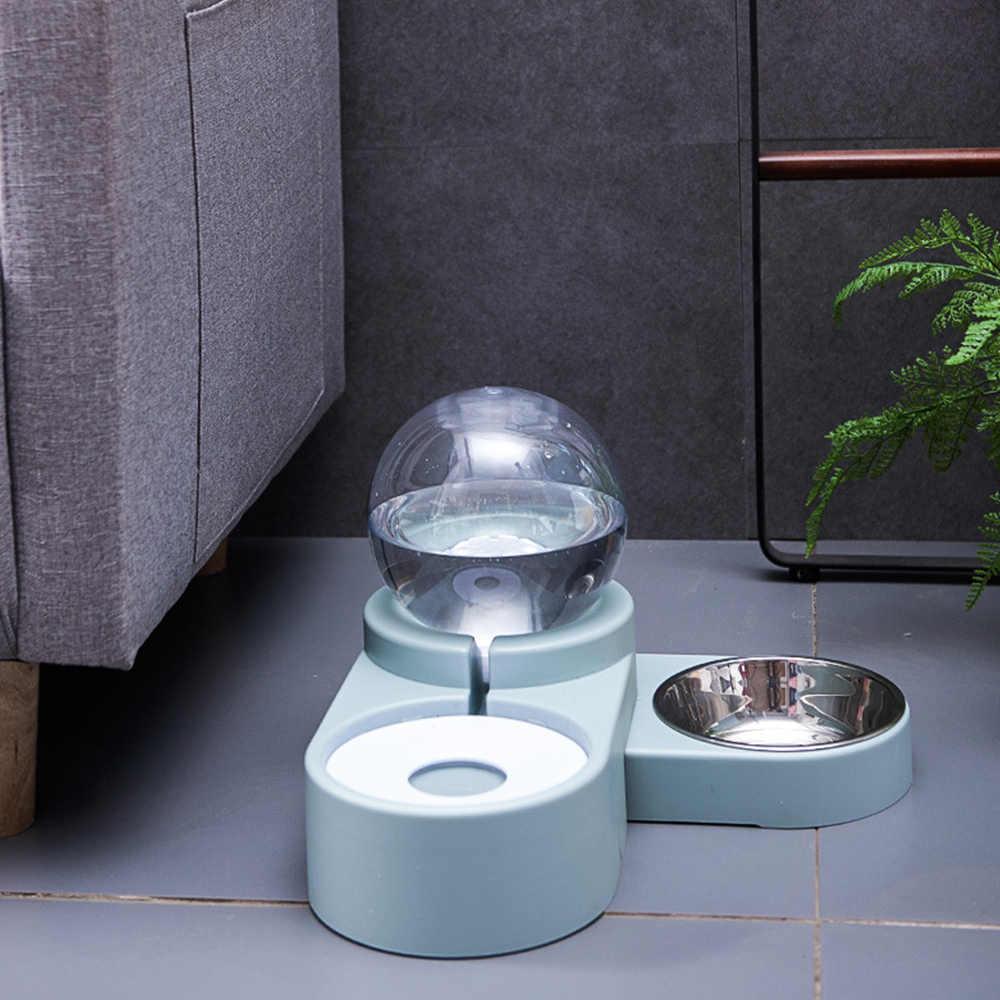 1.8L 새로운 거품 애완 동물 그릇 음식 자동 공급기 분수 물 고양이 개 새끼 고양이 먹이 컨테이너 애완 동물 용품