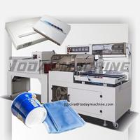 Bottle packing Semi Automatic shrink sleeve labeling machine / PE Film shrink packaging machine