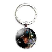 Кольцо для ключей world music king mike jackson стеклянный кабошон
