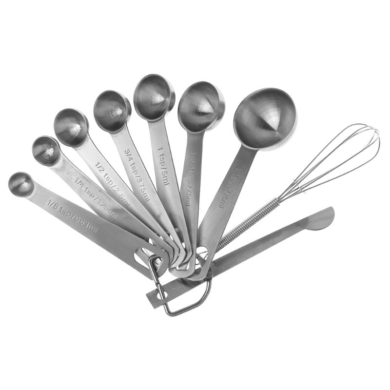 9PCS/Set Measuring Spoons Scoop Measuring Cup Whisk Kitchen Scale Baking Cooking