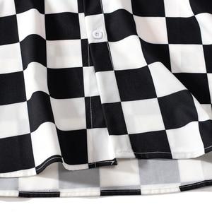 Image 5 - EFUNGAL 2019 Fall Shirt Men Women Long Sleeve Hip Hop Streetwear Harajuku Plaid Utopia Shirts Casual Slim Outwear Male Tops