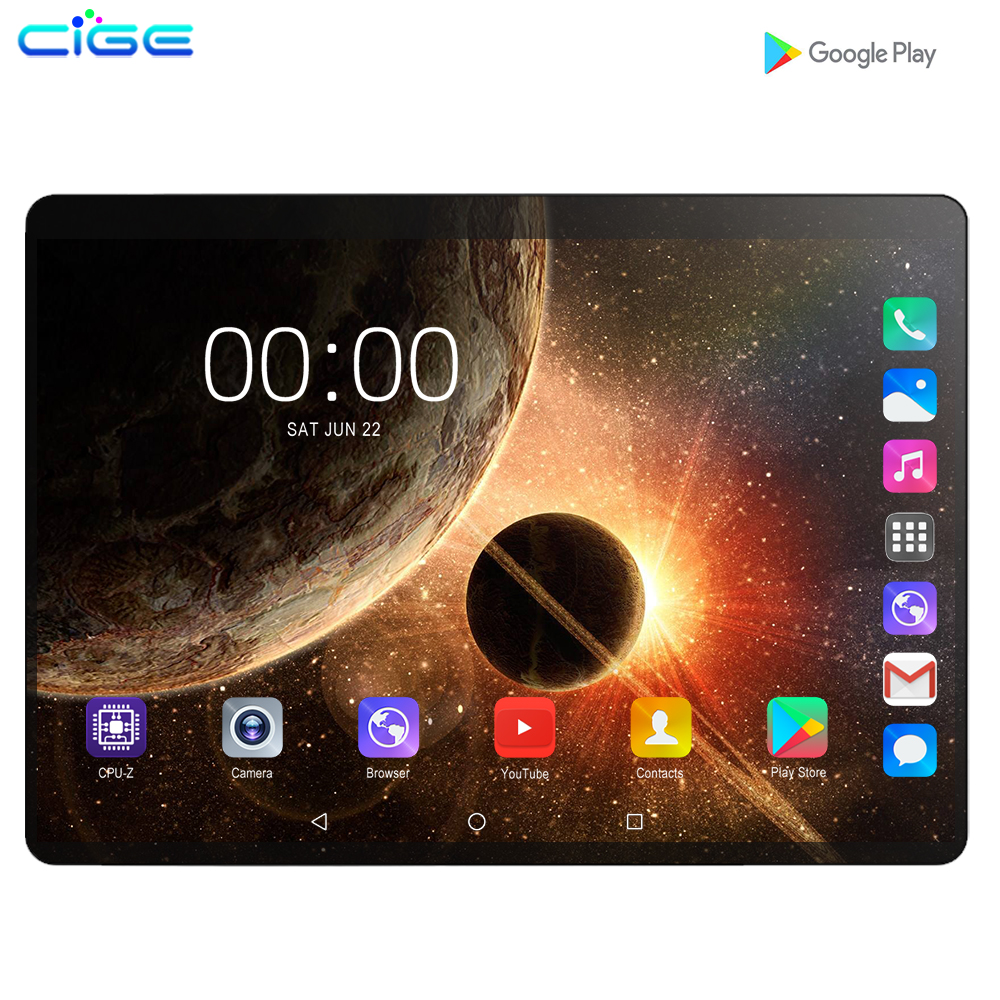 2020 Global Version 10.1 Inch Tablet 4G LTE Android 9.0 Octa Core IPS 2.5D Large Screen RAM 6GB ROM 128GB GPS WIFI Tablet 10