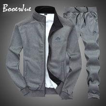 Fato de treino masculino dos homens da moda conjunto de duas peças com zíper quente moletom jaqueta + moletom moleton masculino conjunto