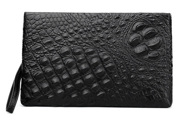 Personality Embossing Business Bag Men Genuine Leather Envelope Small Briefcase Alligator Stria Mens Bags Bolso Hombre DF265
