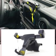 Para jeep wrangler jl 2019 2020 acessórios do carro ventilação de ar montar suporte smartphone suporte do telefone móvel berço estável