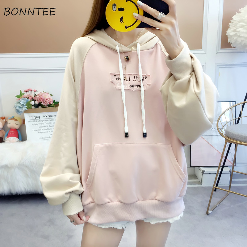Hoodies Women Printed Kawaii Soft Harajuku Hooded Pullover Loose Students Womens High Quality Female Korean Style Pockets Lovely
