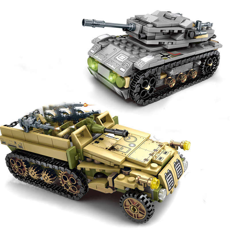 WW2 military vehicles armored car german tank Panzer medical truck  compatible legoed soldiers figures model building blocks toys