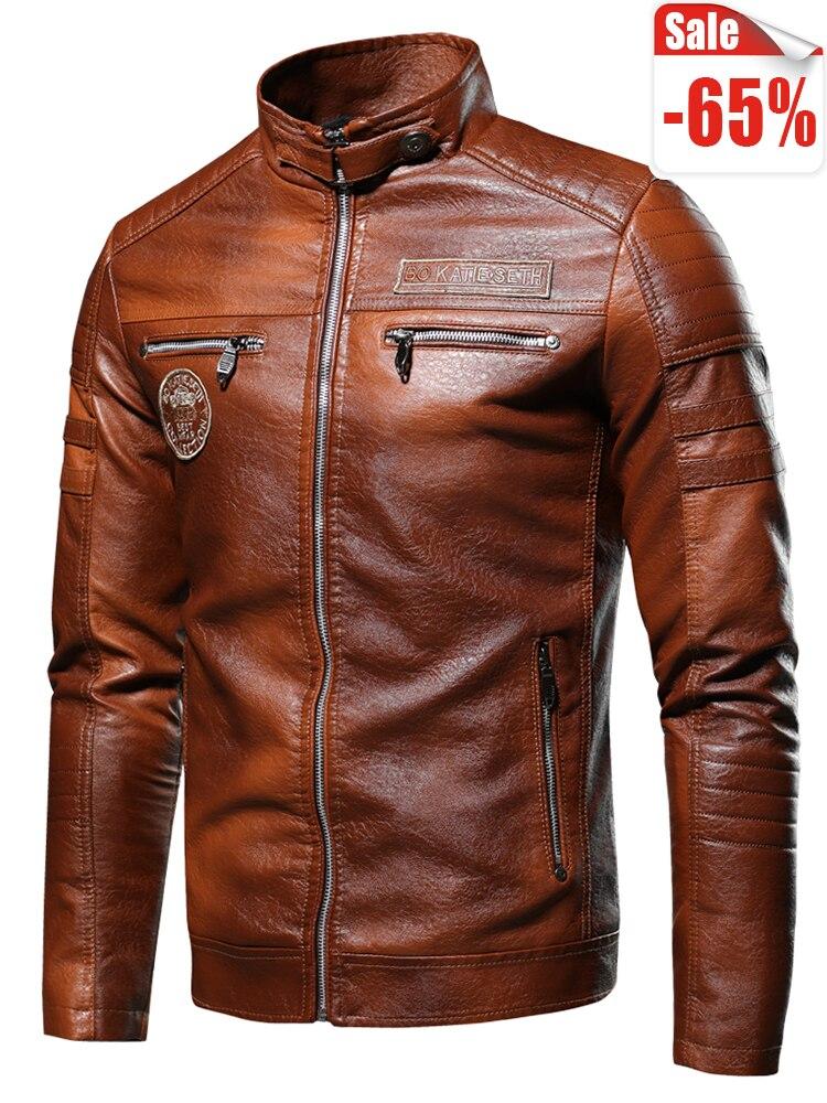 Ucrazy Jacket Coat Men Casual-Motor Distressed Vintage Autumn Winter New-Brand Outwear