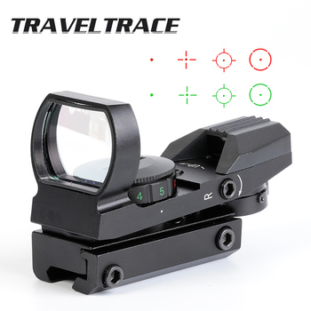 Hunting Riflescopes 20mm Tactical Optical Holographic Red Green Dot Reflex 4 Reticle Sight Rifle Scope Quality Optics Collimator 4 12x50eg tactical rifle scope with holographic 4 reticle sight