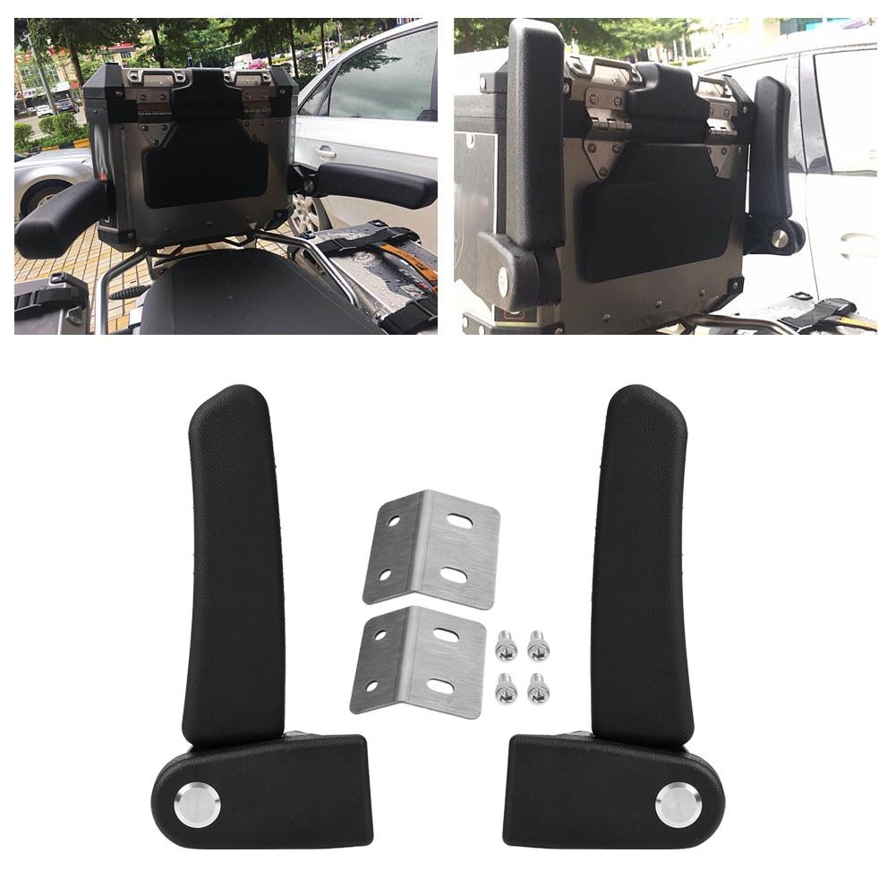 Motorcycle Passenger Armrest ABS Rear Folding Top Case Box Rear Seat Armrest Kit Universal For BMW Yamaha KTM Aluminum Rear Box