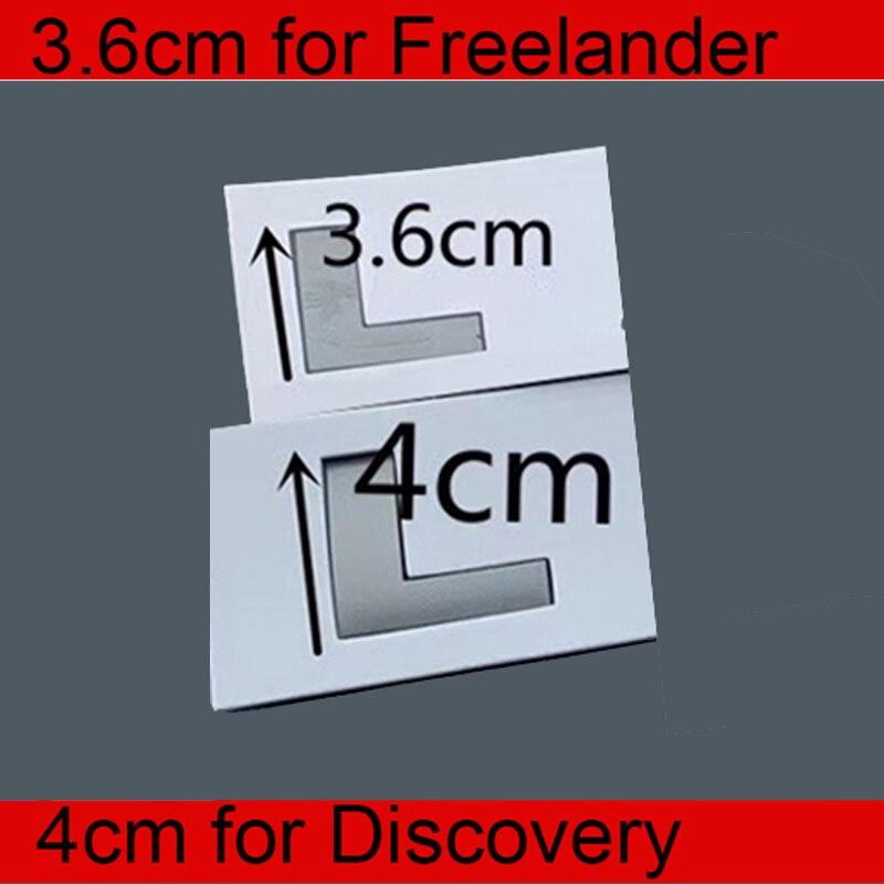 3.6cm 4cm Huruf Emblem untuk Land Rover FREELANDER 2 3 DISCOVERY Mobil Styling Refitting Hood Bagasi Logo Stiker asli Grey