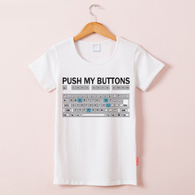 Women loose Plus Size keyboard Print Tees Funny Shirt Tops Woman Tee Casual  Summer short sleeve T